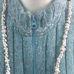 """Vintage Tiny Seashell Necklace 19"""" Handmade"""